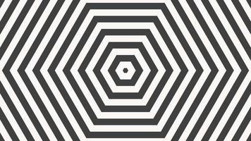 Bewegung Intro geometrische Schwarz-Weiß-Schwindelstreifen, abstrakter Hintergrund