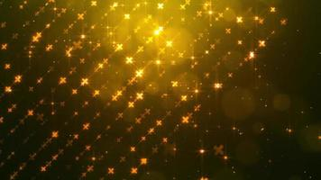particules d'or éblouissantes