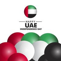 Happy UAE Independence Day Vector Template Design Illustration