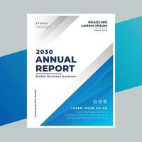 Annual report cover page design template vector