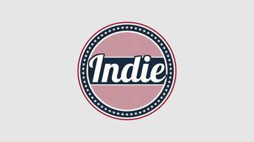 geanimeerde indie van de close-uptekst op vakantieachtergrond, onafhankelijkheidsdag van de VS. video