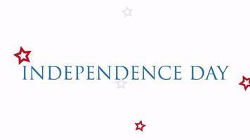 animerad självständighetsdag för texttext på semesterbakgrund, nationens dag i usa