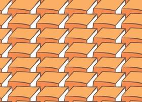 Hand drawn, orange, brown, white color 3d shapes seamless pattern