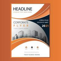 Corporate business marketing flyer template vector