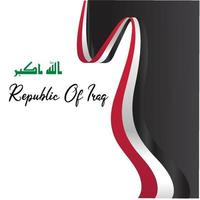 Flag of Iraq, Republic of Iraq. Template for award design, an official document with the flag of Iraq. Bright, colorful vector illustration.