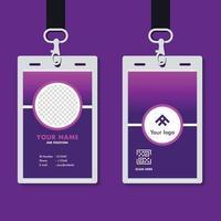 maqueta de plantilla de tarjeta de identificación corporativa profesional vector