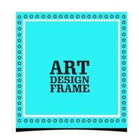 Stylish and minimal photo frame vector