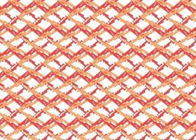 Hand drawn, red, orange, white color criss cross seamless pattern vector