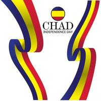 Chad independence day vector template. Design illustration for banner, advertising, greeting cards or print. Design happiness celebration