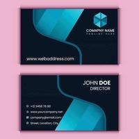 abstract visiting card template vector