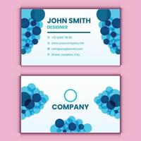 professional business card design template vector