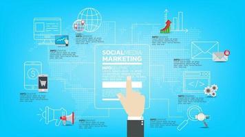correo de propaganda. concepto de internet tecnología de comunicación, mensajes y medios y web vector