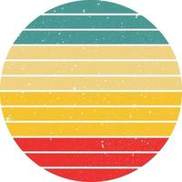 Vintage Retro Striped Sunset Background clip art vector