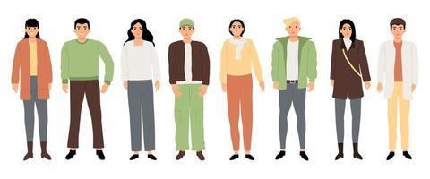 conjunto de personajes adolescentes vector