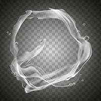water flow elements, can be used as special effect, transparent background, 3d illustration vector