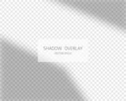 efecto de superposición de sombras. sombras naturales de la ventana vector