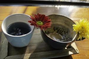Handmade pottery cups photo