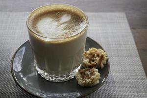 Latte coffee art cup photo