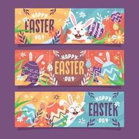 Happy Easter Day Festivity Banner vector