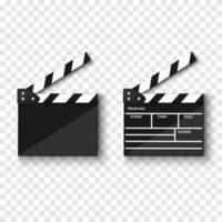 Tablero de azote de película aislado, ilustración vectorial vector