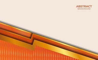 diseño abstracto naranja y dorado vector