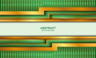 Abstract Design Gold And Green vector