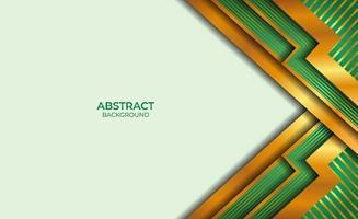 diseño de fondo dorado y verde estilo abstracto vector