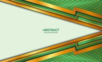 fondo de estilo abstracto dorado y verde vector