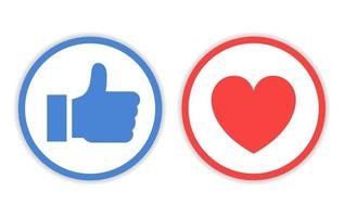 Design Icon Like And Love With Circle Line vector