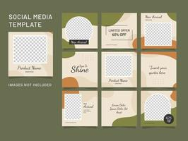 Template Design Feed Puzzle Fashion Women vector