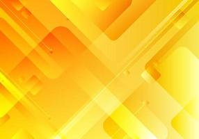 Abstract technology concept yellow geometric square overlapping corporate design background vector