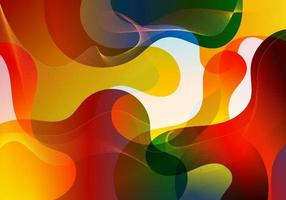 Abstract vibrant color gradient liquid shapes cool background design vector