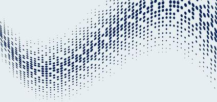 Abstract technology futuristic style big data blue geometric circle pattern wave halftone on white background and texture vector
