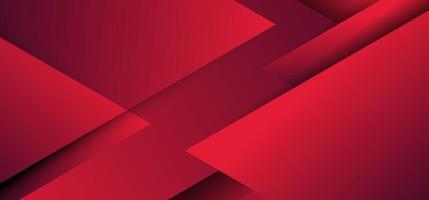 Triángulos geométricos rojos abstractos que se superponen con un fondo de estilo de corte de papel de capa. vector