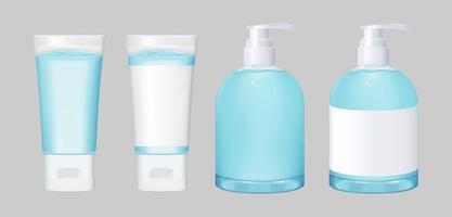 Hand sanitizer mockup set vector