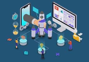 Startup concept design vector