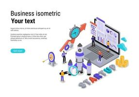 Startup concept with character for website landing page and mobile template vector