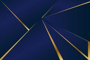 patrón poligonal abstracto de lujo azul oscuro con oro vector