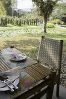 Outdoor dining table photo