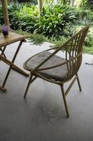 Outdoor furniture set photo