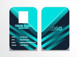 Simple Abstract Geometric Id Card Design  Professional Identity Card Template Vector for Employee and Others