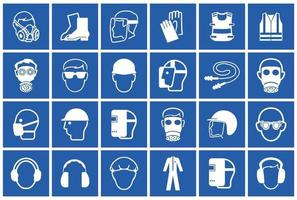 Required Personal Protective Equipment Symbol,Safety Icon vector