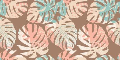 patrón transparente tropical con hojas abstractas. diseño moderno vector