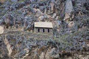 Ollantaytambo Inca ruins in Sacred Valley, Peru photo