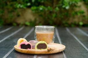 Coffee and mochi photo