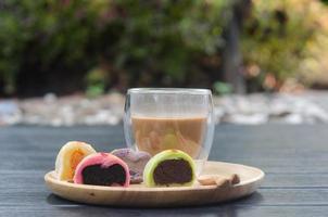 Mochi and coffee photo