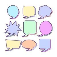 conjunto de vectores de burbujas de discurso