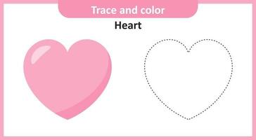 Heart Trace and Color vector