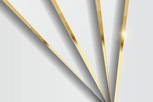 Modern black luxury background with golden line and shiny golden light. vector