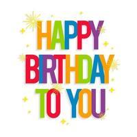 feliz cumpleaños tarjeta de felicitación vector